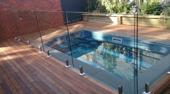 Glass Fencing - Melbourne - Frameless Glass Around Small Area